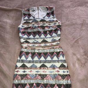 Two piece dress set mini dress